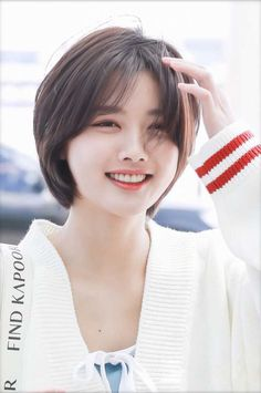 Kim Yoo Jung (To Macau Short Hair Tomboy, Asian Short Hair, Asian Hair, Girl Short Hair, Short Hair Cuts, Short Hair Korean Style, Short Hair Styles For Round Faces, Cute Hairstyles For Short Hair, Pixie Hairstyles