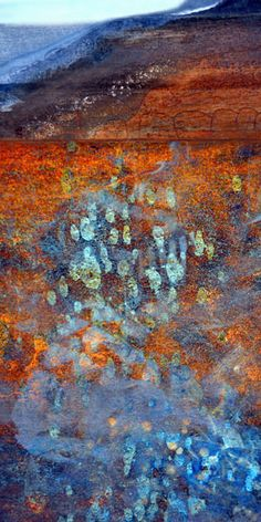 Spirit Trail | LuAnn Ostergaard | Abstract landscape created from digital images of rusty metal.