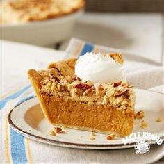Salted Caramel Streusel Pumpkin Pie from Pillsbury® Baking made with Eagle Brand® Caramel Flavored Sweetened Condensed Milk will have the whole family asking for the recipe! Thanksgiving Desserts, Holiday Desserts, Holiday Recipes, Thanksgiving Leftovers, Holiday Foods, Holiday Ideas, Pumpkin Dessert, Pie Dessert, Dessert Recipes