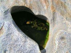 Herz im Felsen