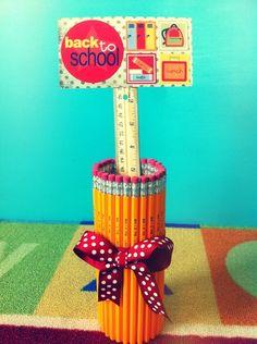 Pencil holder teacher gift