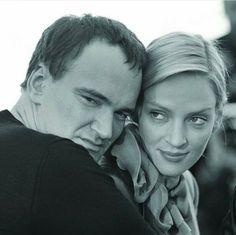 Квентин Тарантино и Ума Турман . Канны 1994. Pulp Fiction, Famous Couples, Farrah Fawcett, Film Director, Cannes Film Festival, Uma Thurman, Quentin Tarantino, Movie Stars, Ensemble Cast