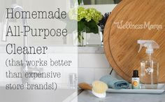 This homemade all-purpose cleaner is natural and much less expensive than conventional cleaners. All natural and it works!