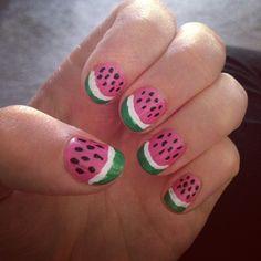 Watermelon summer nails