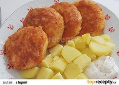 Strouhaný smažený sýr, vařené brambory a tatarka. Potato Salad, Macaroni And Cheese, Vegan Recipes, Food And Drink, Dairy, Treats, Vegetables, Cooking, Breakfast