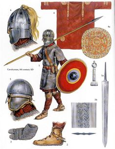 christa hook showing a roman army warrior of the century AD Ancient Rome, Ancient History, Ancient Persia, Anglo Saxão, Roman Armor, Rome Antique, Roman Warriors, Empire Romain, Armadura Medieval
