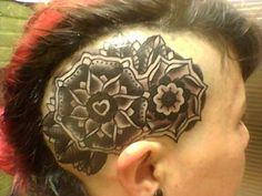 Intense and beautiful head tattoo. (Tattooed by David Guy of Affinity Tattoo and Body Piercing in Austin, Texas)