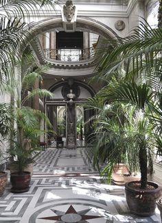 greek key stone floor, geometric floors