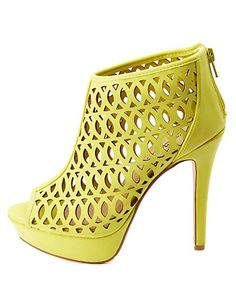 db6a272a6d14 Anne Michelle Cut-Out Peep Toe Platform Heels  Charlotte Russe Stiletto  Shoes