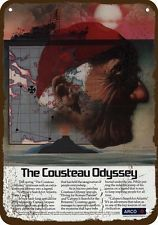 1978 ARCO Vintage Look Replica Metal Sign   JACQUES COUSTEAU & CALYPSO ODYSSEY