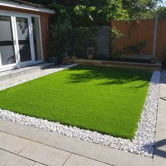 I appreciate this brilliant artificial grass garden Back Garden Design, Backyard Garden Design, Back Gardens, Outdoor Gardens, Artificial Grass Garden, Garden Grass, Fake Grass, Artificial Turf, Lawn And Garden
