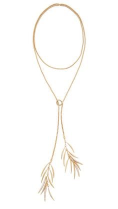 Eddie Borgo Pave Prickle Lariat Necklace. I'm gonna try and do something like this myself...Great DIY :D