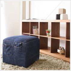 Recycled Jeans As Furniture