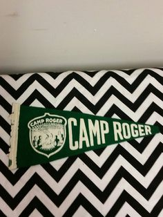 Camp Roger Felt Souvenir Pennant by TheRetroRemedy on Etsy