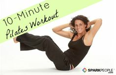 A 10-Minute Pilates Routine for Beginners via @SparkPeople