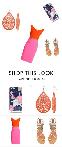 """""""Untitled #6"""" by kellyalverez14 ❤ liked on Polyvore featuring Kate Spade, Emilio De La Morena and statementnecklaces"""