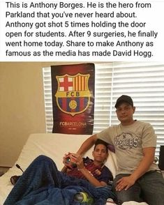 #AnthonyBorges This is the kid that people should be hearing about. This is a true braveheart.