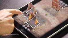 Western iPad is a digital boardgame where two rival gangs fight each other in a small Western town. The mechanism of the game is simple and fluid, it allows a speedy game with lots of dramatic twists and turns! which buildings to hide the different pawns. You can also use the building to bluff your opponents. Western is a game which will allow you to relive the most famous Western movie scenes.  Western is a two player game. Age 12 and over. 15- 20 minutes per game.
