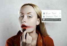 Photoshop in real life by Flora Borsi, via Behance