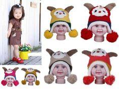 Kids/Baby/Girl/Boy Sheep Lamb Hat Knitted Velvet Beanie Winter Cap Xmas Gift