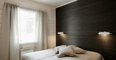 Bedroom headboard designs, The world of interior design has no limits and we can freely use this variety to design a bedroom that perfectly fits our moods. Bedroom headboard designs, as illustrated i Bedroom Wallpaper One Wall, Accent Wall Bedroom, Wood Bedroom, Of Wallpaper, Modern Bedroom, Bedroom Decor, White Bedroom, Swedish Bedroom, Master Bedroom
