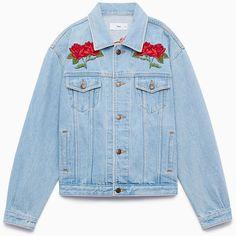 yamashita jacket Aritzia ($73) ❤ liked on Polyvore featuring outerwear, jackets, blue jean jacket, denim jacket, jean jacket, blue jackets and blue denim jacket