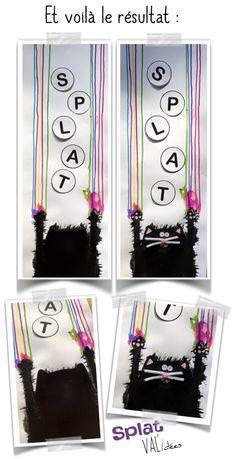 Lignes verticales - Validées Splat Le Chat, Kindergarten Art, Art Education, Blog, Projects, Crafts, Authors, Halloween, Gatos