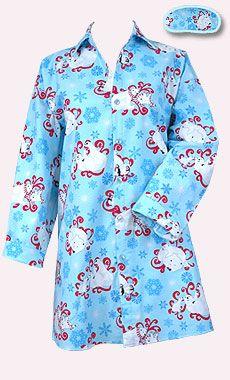 Santa Flannel 187 Santa And Christmas Print Flannel Pajamas