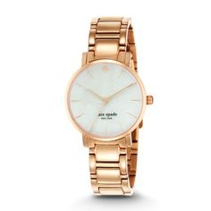 Sale  Rose Gold-Tone Gramercy Watch As lovely as a walk in the park, this classic timepiece was inspired by Manhattan's Gramercy Park, a charming neighborhood once host to writers Oscar Wilde and O. Henry the design lends itself perfectly to office attire and cocktail dressing alike.