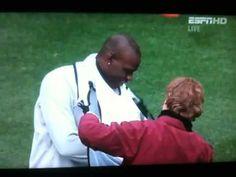 The infamous Balotelli-Bib encounter.