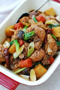 Slow Cooker Dakjjim (Korean Braised Chicken) https://www.facebook.com ...