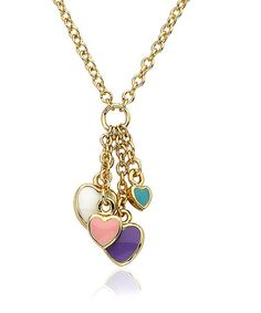 Take a look at this Pastel & Gold Cluster Heart Necklace by Little Miss Twin Stars on #zulily today!
