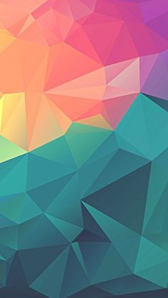 Colorful-Polygon-Geometric-Art-iPhone-Wallpaper - IPhone Wallpapers