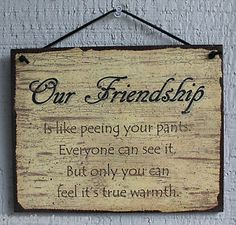Funny Wood Signs with Quotes | ... Friendship Friend Humor Funny Quote Saying Wood Sign Wall Decor | eBay