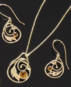 """Circle of Life"" available in 14kt gold or sterling silver and can be customized with your choice of stones for an extra charge. Get yours at http://www.goldcrafterscorner.com/leaves-and-swirls.html"