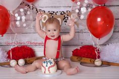 Baseball first birthday outfit baseball cake by ShopLilSquirts