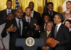 LeBron James With President Barack Obama With The Miami Heat.....  @ White House....  01/28/13