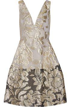 LELA ROSE Metallic matelassé dress  $1,795.00 http://www.net-a-porter.com/products/569203