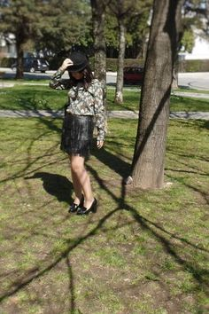 My outfits #3 (the vintage inspired black hat)