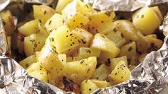 Grilled Cheesy Garlic Potato Packet!