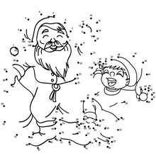 Père Noël et lutin