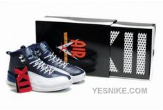 the best attitude 5752d c9444 com Full Of Nike Shoes Half Off,New Air Jordan 12 Retro Obsidian White  French Blue University Blue Shoes