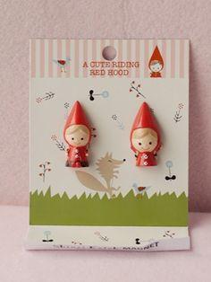 Little Red Ridding Hood Magnets design by shinzi katoh