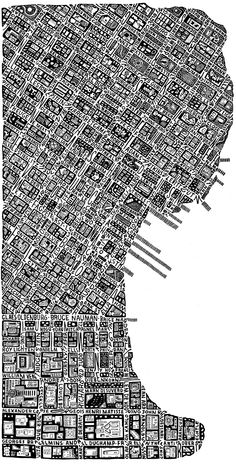 A section of San Francisco, streets are names of artists exhibiting in the SFMOMA - Sarah King
