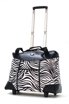 Olympia Deluxe Rolling Fashion Tote In Zebra - Beyond the Rack