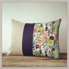 LIMITED EDITION: Abstract Floral Liberty Print Pillow by JillianReneDecor - Watercolor Flowers - Decorative Home Decor - Tresco C Tawn Lawn via Etsy