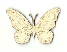 Butterfly Unfinished Laser Cut Wood Shape BUG34