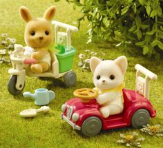 Sylvanian Families - Baby Car & Tricycle - Ref: N96