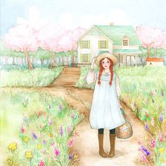 anne of green gables watercolor - Bing Images Anne With An E, Anne Shirley, Children's Book Illustration, Anime Art Girl, Watercolor Art, Illustrators, Art Drawings, Artsy, Painting