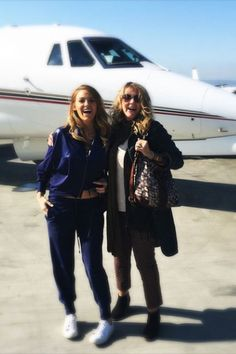 """Blake Lively shares a photo captioned, """"Holy cow!!! ✈️ Ridin' in style with my mama this morning. """""""